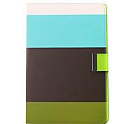 Colorful Rainbow Bar Padrão PU Bolsa em couro com suporte para iPad Air iPad 5 (WBBG)