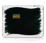 Caisse noire de dos de plastique de peinture pour iPad 2/3/4