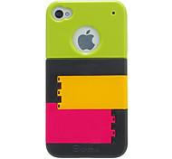 Custodia protettiva colorata congiunta per il iphone 4/4s