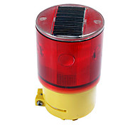 Solar Power Warning Safety Sign 6-LED Flash traffic Light