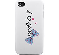 Joyland I Love You Blue Bow Back Case for iPhone 4/4S