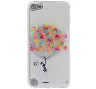 diseño colorido estuche rígido fresco globo patrón de epoxy para el iPod touch 5