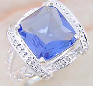 (1 pc) anneau bleu Multi-pierre femmes douces (bleu)