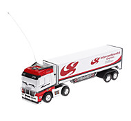 Top Race 1/98 Remote Control Racing Container Truck with Road Block(Random color)
