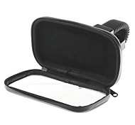 360 Degree Rotation Scooter Bracket  PU Leather Waterproof Bag for Samsung I9500 - Black
