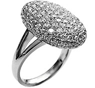 (1 Pc) Fashion Women'S Transparent Rhinestone Rings(Silver)