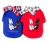 Lovely Rabbits Warm Couple T-shirt with Collar for Pets Dogs (Assorted Colors, Sizes)