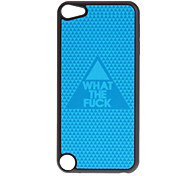 Shimmering Blue Triangle Pattern Hard Case for iPod touch 5