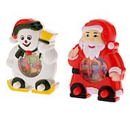 Papai Noel e boneco de neve do jogo Presente de Natal Console (padrão aleatório)