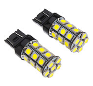 2Stk T20 7443 27x5050SMD 100-250LM White Light-LED für Auto (12V)