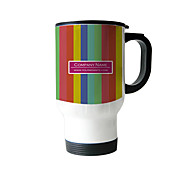 Personalized Stainless Steel Rainbow Pattern Sliver Car Mugs