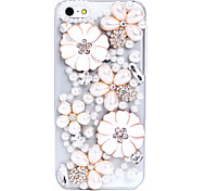 Flowers PatternMetal Jewelry Back Case for iPhone 5C