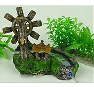 Imitación espléndido paisaje del jardín de rocalla decoración del ornamento para el acuario
