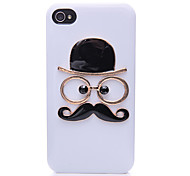 The Gentleman Face Pattern Metal Back Case for iPhone 4/4S