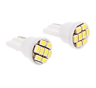 T10 6x3020SMD 30-60LM 6000K Cool White Light Bulb LED per auto (12V, 2 pezzi)