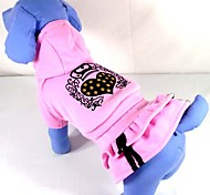 Dog Dress Pink Winter Tiaras & Crowns / Hearts