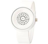 Men's Creative Pointer Round Dial Rubber Band Quartz Analog Wrist Watch Cool Watch Unique Watch