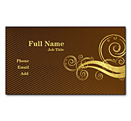 200pcs 2 Sides Impreso Mate Film Business Card Clásico personalizada
