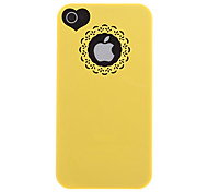 Hollow Sweet Heart Hard and Circle Back Case + Screen Film for iPhone 4/4S(Assorted Color)