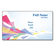 200pcs Personalized 2 Sides Printed Matte Film Compact Pattern Business Card