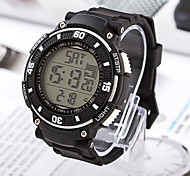 Men'S Mechanical Digital Silicon Band Sports Chronograph Wristwatch