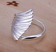 (1 Pc)Sweet Women's Silver Copper Ring(size 8#)