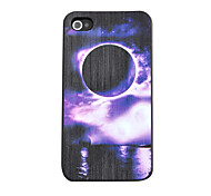 Purple Eclipse of the Moon Relief Back Case for iPhone 4/4S