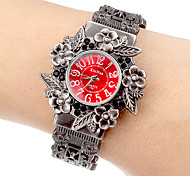 Women's Flower Dial Alloy Band Quartz Analog Bracelet Watch (Assorted Colors)