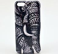 Elephant Cartoon Pattern Plastic Back Case for iPhone 5C
