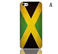 Flag Series Pattern Hard Case with 3-Pack Screen Protectors for iPhone 5/5S