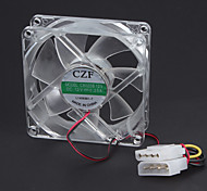 Tramsparent desktop Fan de 8 cm com luz