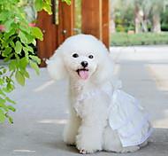 simple, pur robe blanche de mariée en dentelle pour les chiens ()
