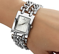 Women's Watch Square Radial Pattern Dial Bracelet Watch