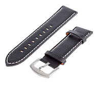 Men's 25mm Leather Watch Band (Black) Cool Wrist Watch Unique Watch Fashion Watch