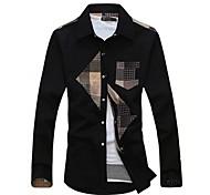 Men'S Stitching Long Sleeve Shirt