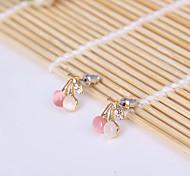 Moda pequenas cereja fresca cor de opala brincos E813