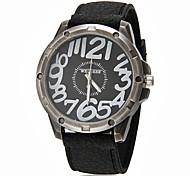 Hombres Grandes dial redondo banda de silicona de cuarzo reloj de pulsera analógico (colores surtidos)