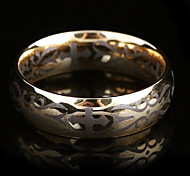 Fashion Men'S Golden Titanium Steel Band Ring(Golden)(1 Pc)
