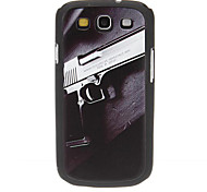 Silver Gun Pattern Hard Case for Samsung Galaxy S3 I9300