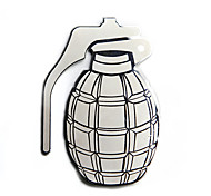Stainless Steel Grenade Emblem Easy Peel & Stick Installation Decal Car Sticker 3D Car Styling Parts Car Badges
