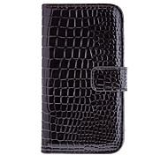 Elegante Alligator Grain Design Couro Artificial e Stand Case Wallet plástico para Samsung Galaxy S4 i9500/i9505