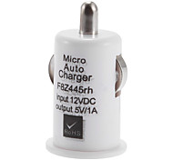 USB 2.0 Car Charger Adapter White for Media Player Cell Phone iPhone Ipod