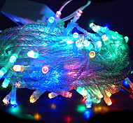 10M 6W 100-LED RVB bande de LED Lumière solaire pour Décorations de Noël (110-120V/220-240V)