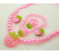 Strawberry monili della ragazza (Necklace & Bracelet & Earrings & Rings) (colore casuale)