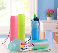 couleurs de bonbons cylindrique tasse de Voyage de brosse à dents (couleur aléatoire)