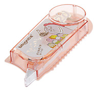 3-in-1 Cartoon Pattern Pink Correction Tape with Rule