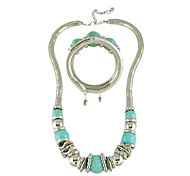 Z&X®  Vintage Green Gem Style Jewelry Set