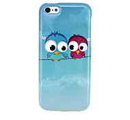 Lovely Owls Glossy TPU IMD Soft Case for iphone 5C