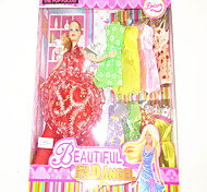 Barbie Doll Wardrobe With Nine Dresses