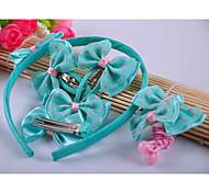 Girl's Lovely Dots Accessory Set(Headband&Hair Ties&Clips)